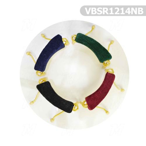 VIOLIN SHOULDER REST NAVY BLUE METAL 3/4 ve 4/4 VBSR44NB