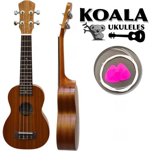 Delux Soprano Ukulele Seti Koala Kılıf+Pena+Takım Tel Hediye KA5215MS