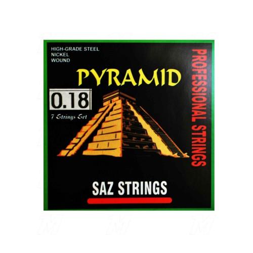Bağlama Teli Takım 0.18 Kısa  Pyramid PBS018